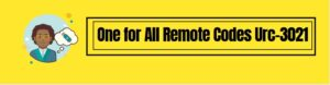 One for All Remote Codes Urc-3021 and Programming Instructions